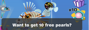 Want to get 10 free pearls? Happy Aquarium icon