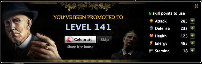 mafia wars level up screen gets an overhaul