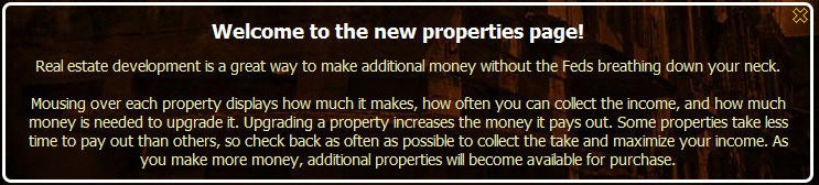 mafia wars new properties
