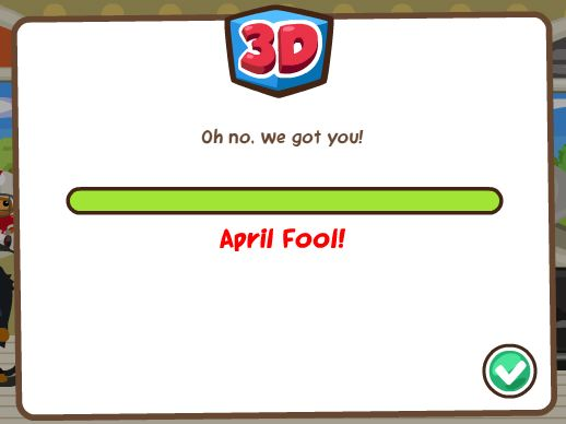 pet society 3D april fools