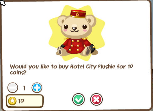 pet society hotel city plushie