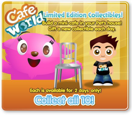 petville cafe wrold items