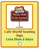 cafe world please wait to be seated