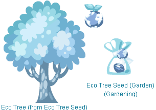Pet Society Eco Tree, Eco Seed, and Eco Fruit