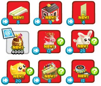 Restaurant City Premium Easter Items