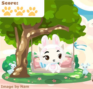 Pet Society Pink Tree Swing