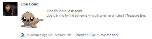 Lost seal treasure isle on facebook