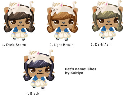Brown Pet Society Wigs