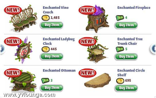 YoVille Enchanted Lands Furniture 2