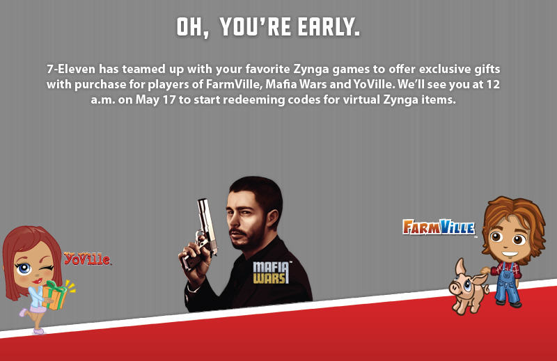 buy earn play zynga 7-Eleven promotion