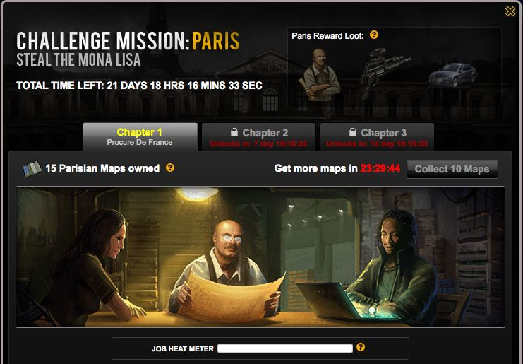 mafia wars challenge mission paris