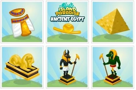 Ancient Egypt theme in Island Paradise