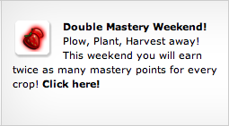 farmville double mastery weekend