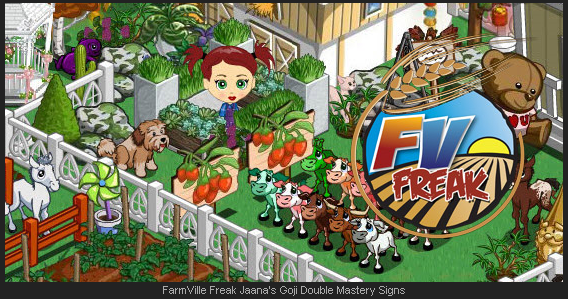 FarmVille Freak Jaana's Goji Double Mastery Signs