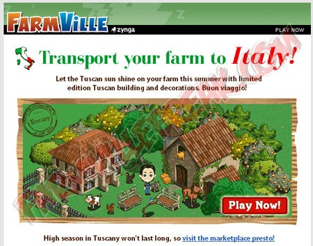 farmville transport your farm to italy newsletter