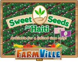 Farmville sweet seeds for haiti loading screen
