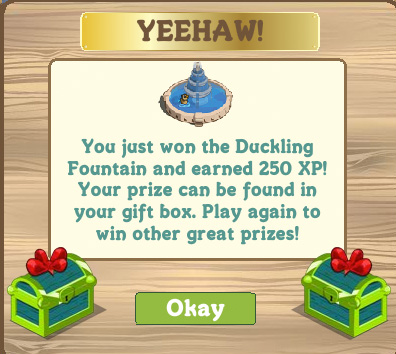 FarmVille Duckling Fountain mystery box