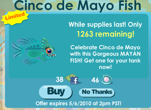 Happy Aquarium Cinco de Mayo Mayan Fish