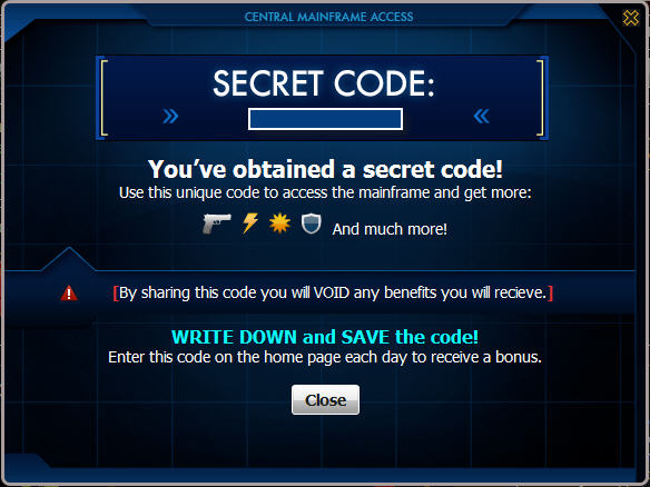 mafia wars secret code
