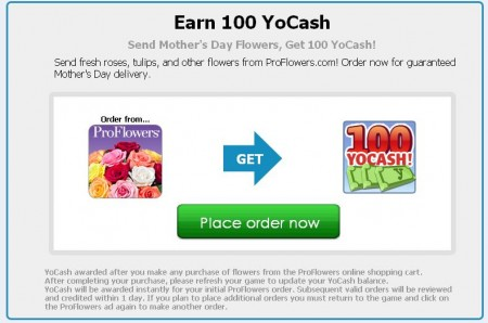 Earn 100 YoCash from ProFlowers