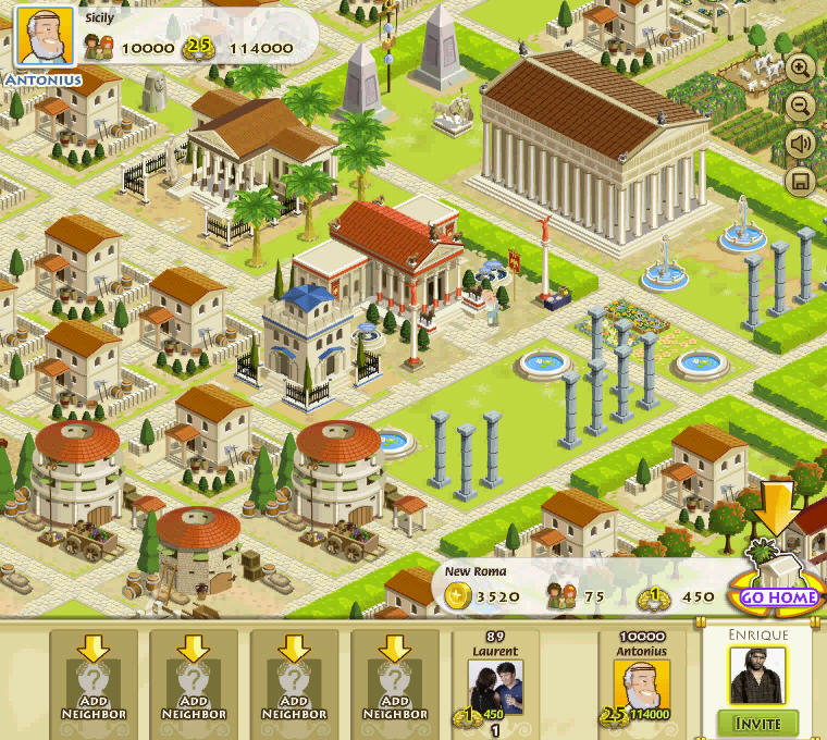 My Empire by Playfish launches. Your first neighbors town.