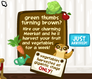 Pet Society Meerkat Auto Harvest: green thumbs turning brown?