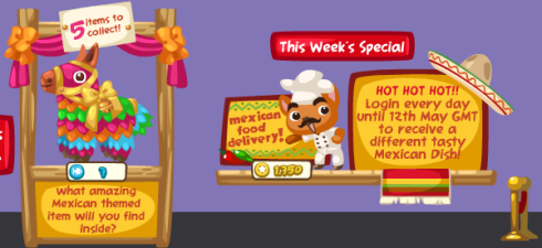 Pet Society Mexican Cinco de Mayo specials