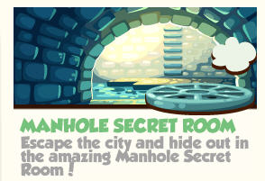 pet society manhole secret room