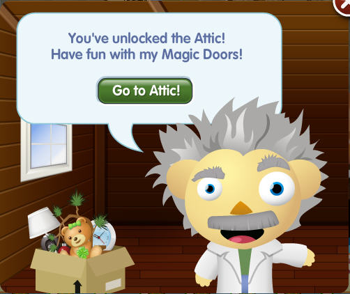 petville attic with magic doors