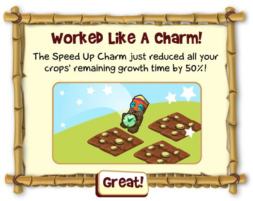 Tiki Farm Speed Up Charm