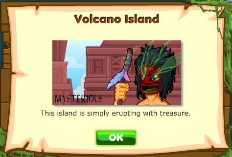 Treasure Madness Volcano Island map