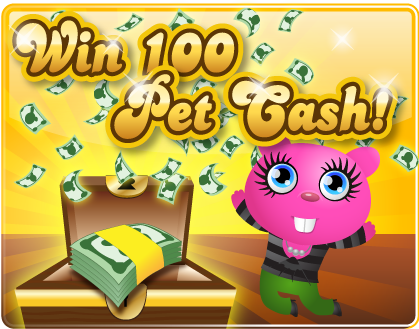Tweet for Cash PetVille 500 Pet Cash