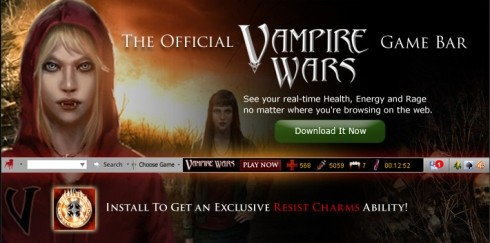 Vampire Wars Toolbar