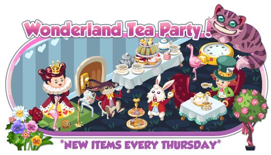 Restaurant City Alice in Wonderland Theme