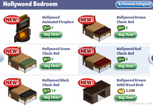 yoville hollywood bedroom