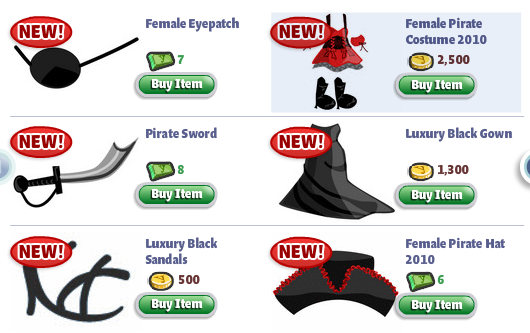 YoVille Pirate Costume