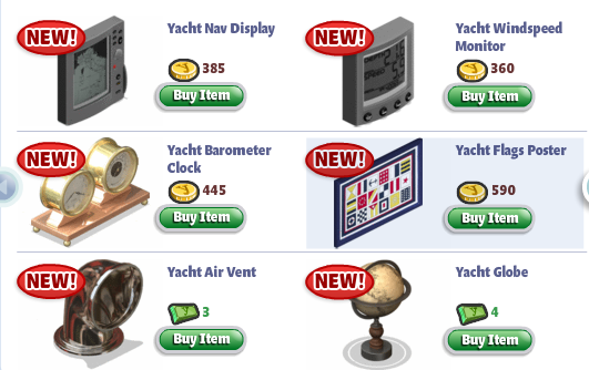 YoVille Yacht Furniture
