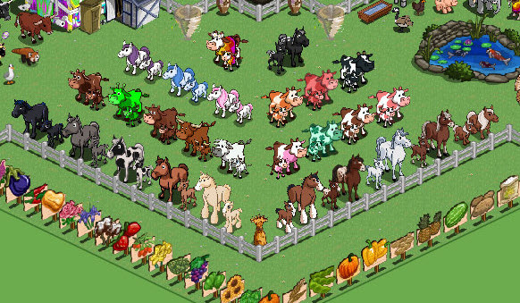 FarmVille Freak Glen's Horse, Foal, Cow, & Calf Collection