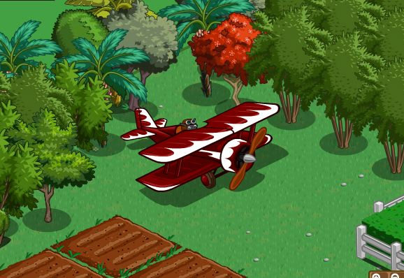 farmville biplane helps your crops grow -- instantly