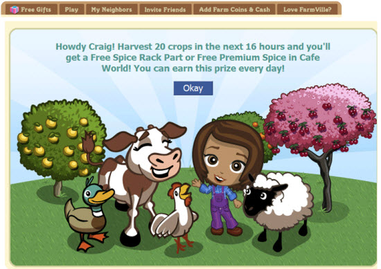 farmville cafe world