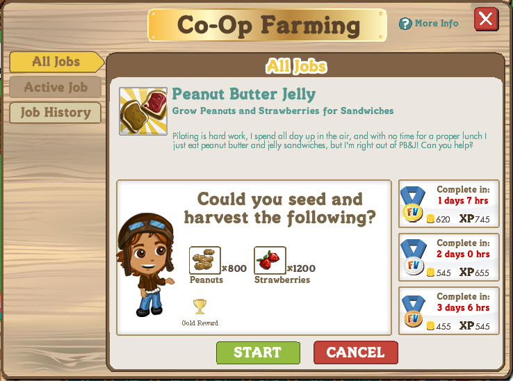 farmville co op farming peanut butter and jelly