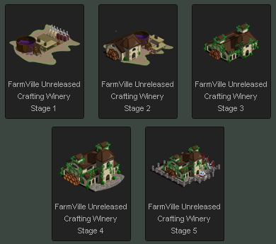 FarmVille Crafting Winery Stages