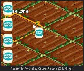 FarmVille Fertilizing Crops Resets @ Midnight