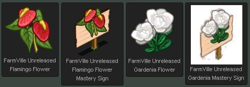 FarmVille Flamingo Flower and Gardenia Flower