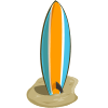 farmville stripe surfboard