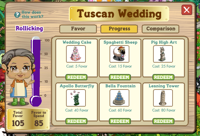farmville tuscan wedding changes