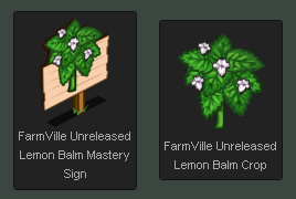 FarmVille Unreleased Lemon Balm Crop