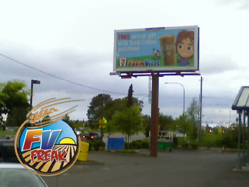 FarmVille 7-Eleven Billboard in Washington