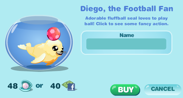 Happy Aquarium Diego the Football Fan