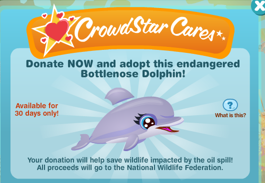 CrowdStar Cares Happy Aquarium Bottlenose Dolphin